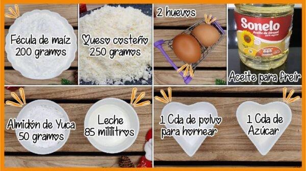 Buñuelos ingredientes